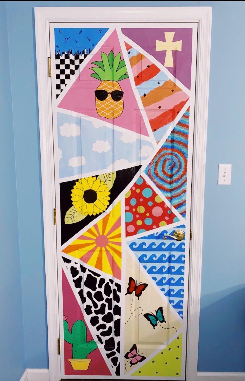 Painted Door Bedroom Art Painting Diy Canvas Art Diy Art Painting