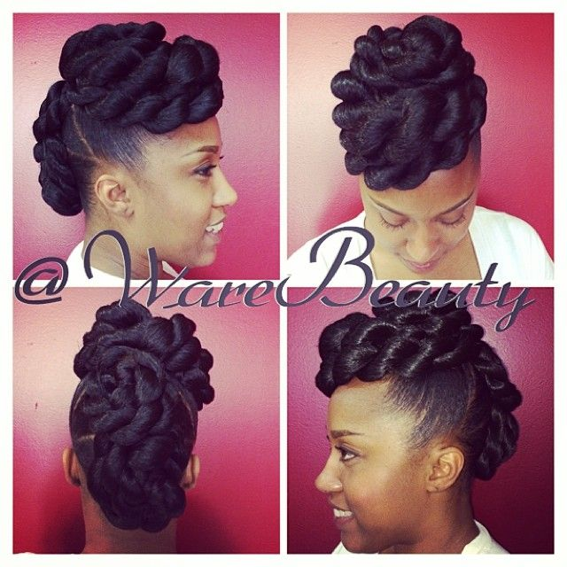 Natural Pinup Using Braiding Hair Love This Style Natural Hair Styles Medium Hair Styles Hair Styles