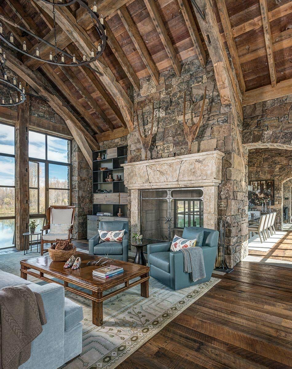 Ranch House Features Medieval Inspired Craftsmanship In Jackson Hole