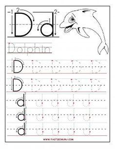 free printable letter d tracing worksheets for preschool activities letter d worksheet. Black Bedroom Furniture Sets. Home Design Ideas
