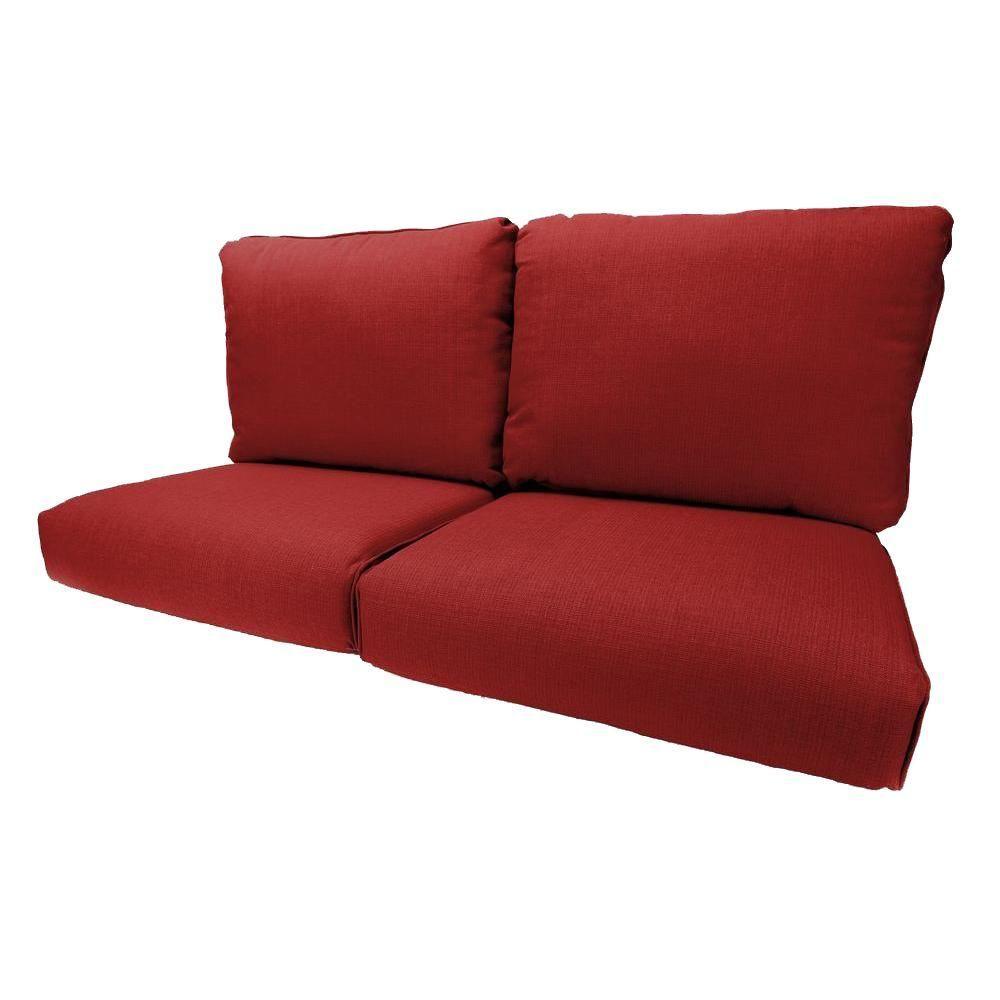 Hampton Bay Woodbury Chili Replacement Outdoor Loveseat Cushion #1: c04b09a13b4a5a649fa0f4e6d4a88a0f