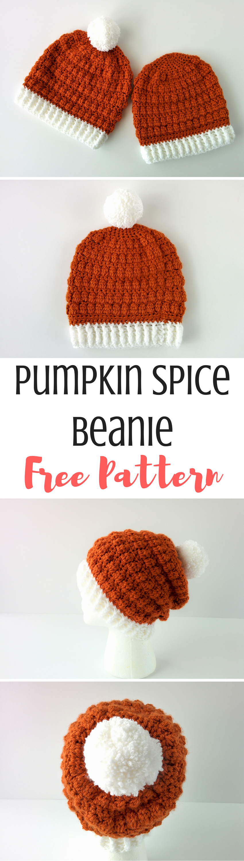 Pumpkin Spice Beanie: Easy Double Crochet Beanie Pattern | Crochet ...