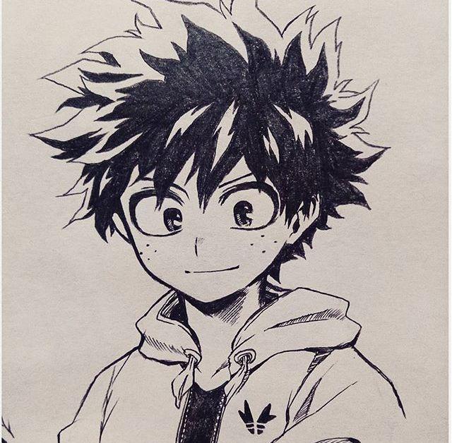 Boku No Hero Academia Midoriya Izuku Anime Character Drawing Manga Art Anime Sketch