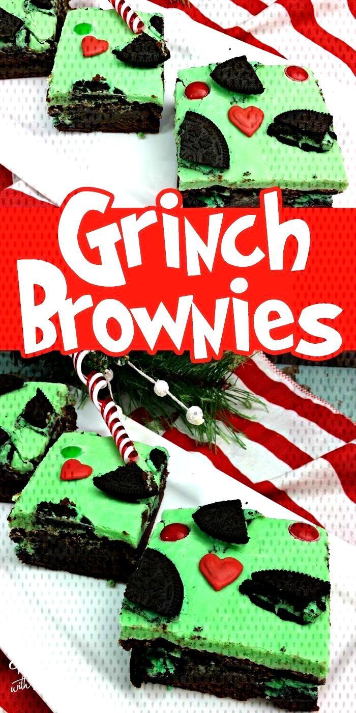 Christmas Grinch Brownies Christmas Grinch Brownies - Kitchen Fun With My 3 SonsChristmas Grinch Br