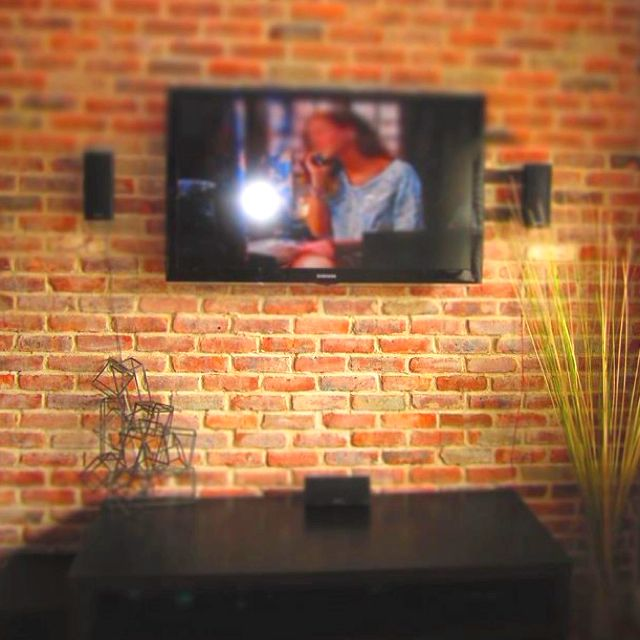 How To Decorate Garden Brick Wall 5 Ideas To Make It: This Is What I Want On The Wall Behind The TV We Just