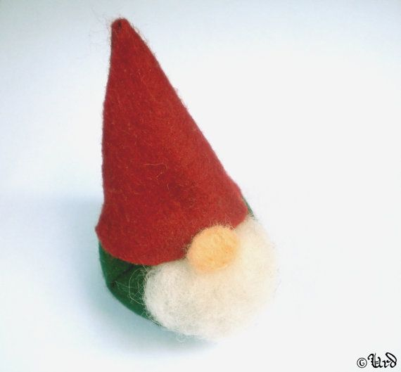 Tomte, Scandinavian gnome Nisse - handmade felt Yule decoration, Swedish, Norwegian dwarf, mythology, folklore, Asatru,