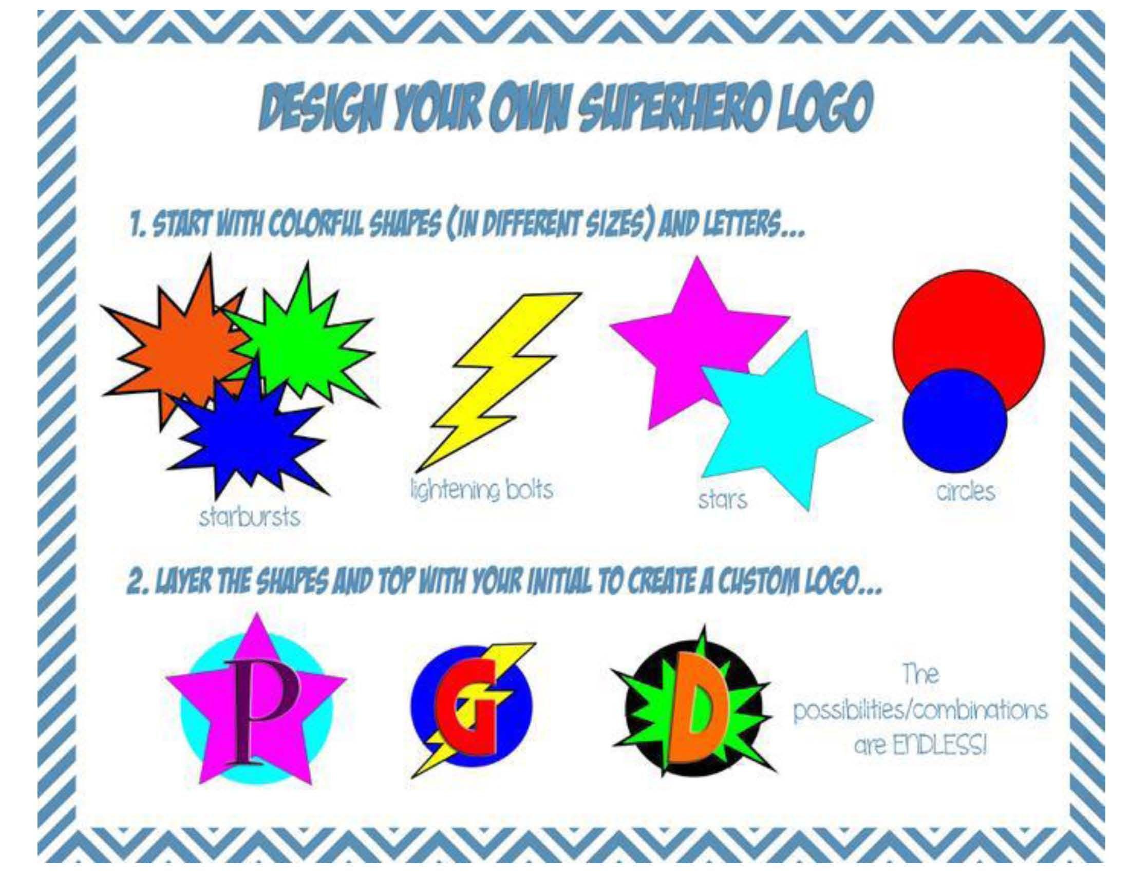 mrs fdk doyle superhero design your own logo k pinterest rh pinterest ca create your own superman logo online free create your own superhero logo