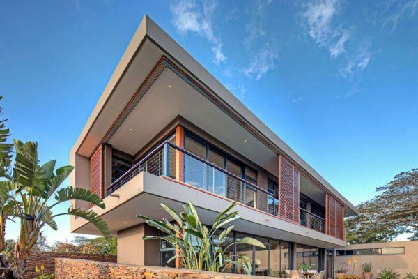 Une maison contemporaine exotique en Afrique Aloe - exemple de facade de maison