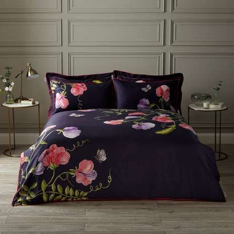 Harris Hatherly By Jane Abbott Sweet Pea Digitally Printed 100 Cotton Duvet Cover And Pillowcase Set Dunelm
