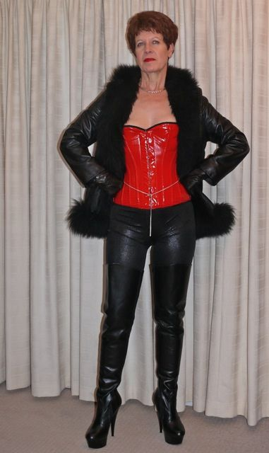 Leather milf