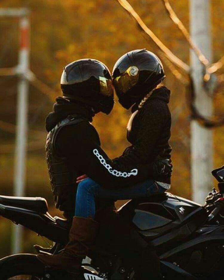 Картинки девушка с парнем на мотоцикле