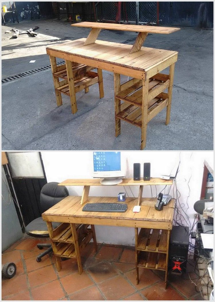 Wood Pallet Computer Table
