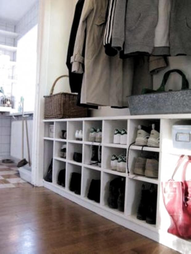 Schönes organisiertes Schuhregal für den Flur – Flur ideen,  #den #Flur #für …