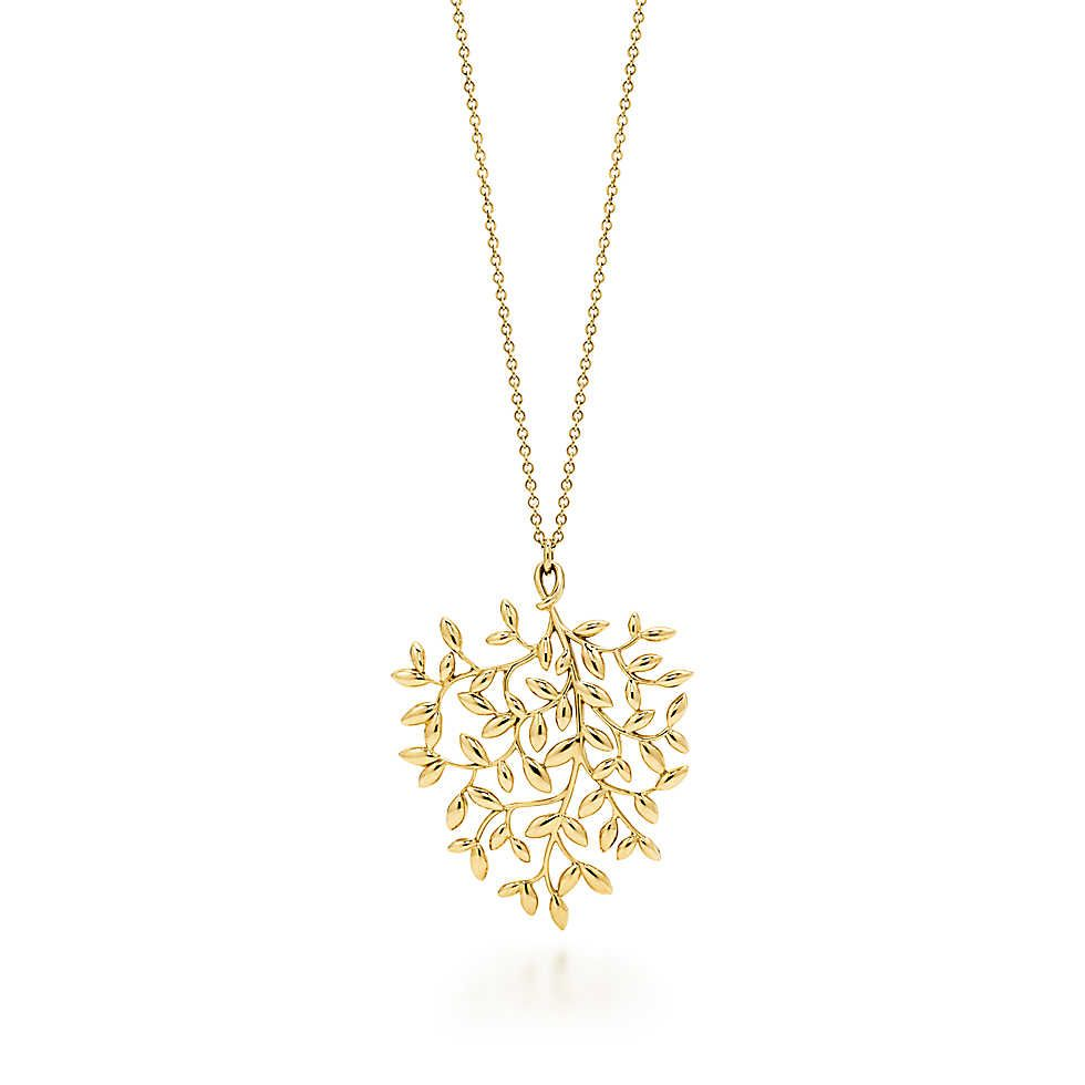 fa1a3ca8d Paloma Picasso® Olive Leaf Pendant | Bijoux | Jewelry, Tiffany, Pendants