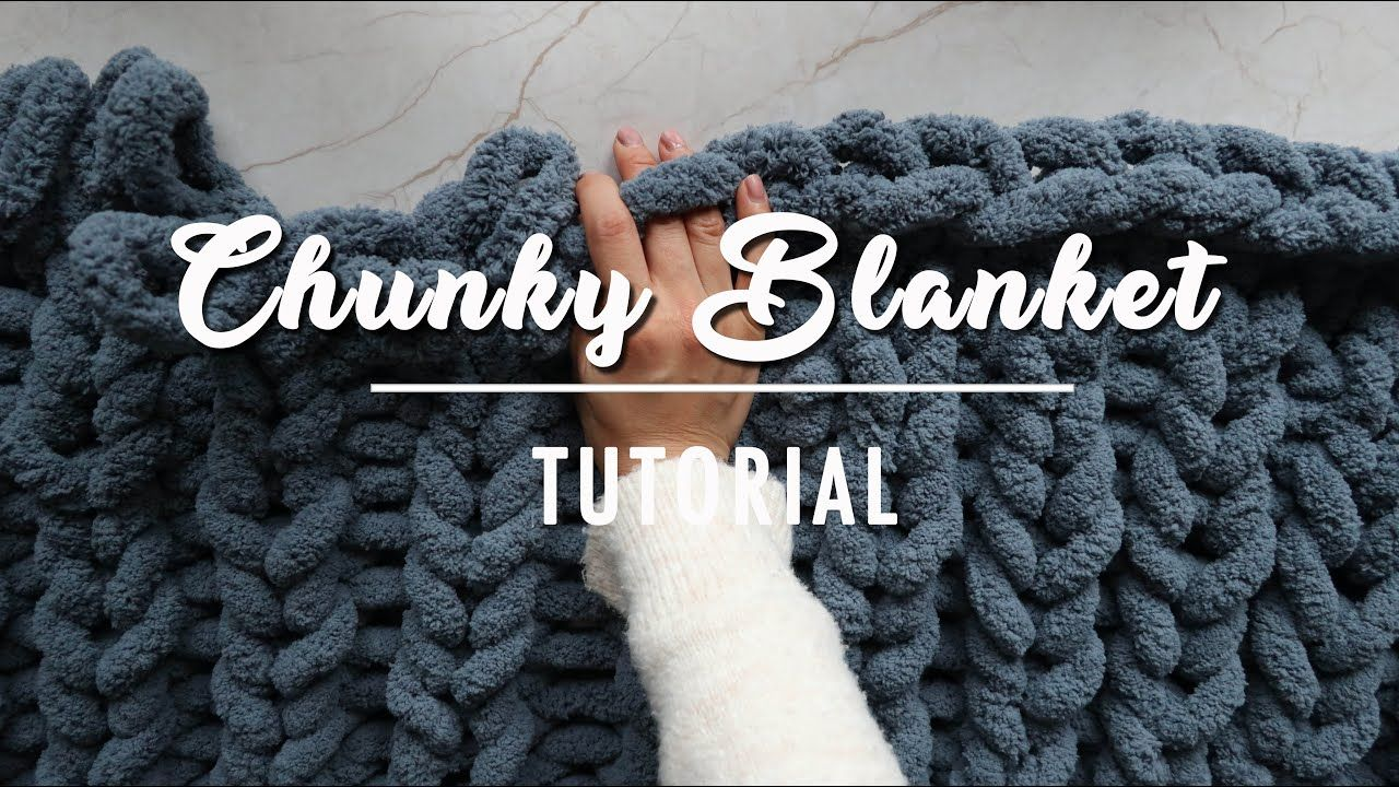 Crafty Mami Hand Knit a Chunky Blanket Simple Winter
