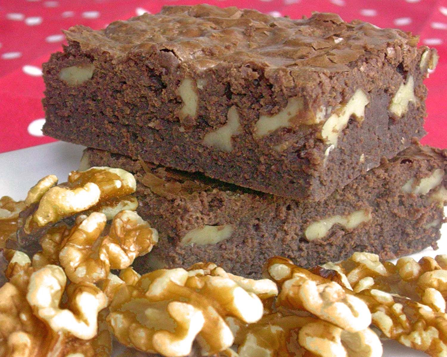 Receta de Brownies de chocolate con nueces