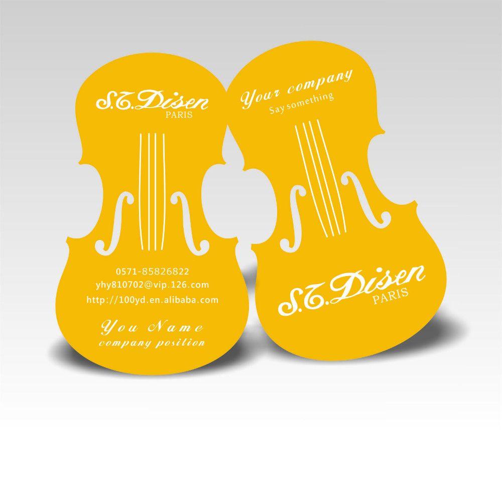 Free shippng nice violin design custom business cards cmyk printing free shippng nice violin design custom business cards cmyk printing die cut to special shape yellow colourmoves