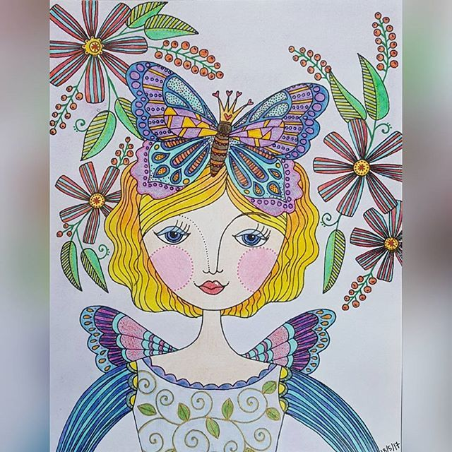 Beautiful colouring page by cora_colors using her