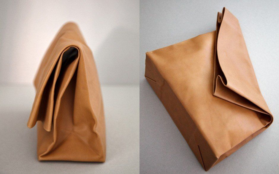Reusable Leather Lunch Bag By Duffylondon
