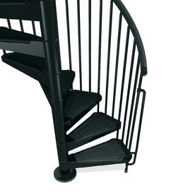 Best Arke Civik 55 In X 10 Ft Black Spiral Staircase Kit K03018 640 x 480