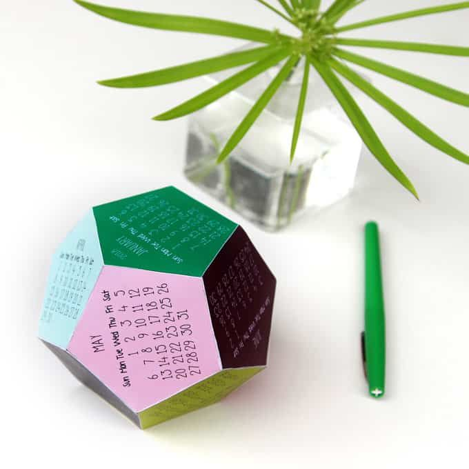 Free Printable Calendar Template 3d 2018 Calendar Paper Crafts