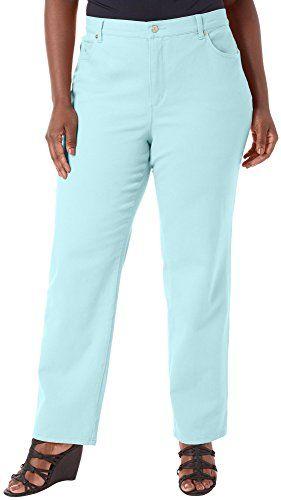 bc7da060e59 Gloria Vanderbilt Plus Amanda Solid Average Jeans 20W Aqua sky blue -- Read  more at the image link. (This is an affiliate link)  LadiesJeans