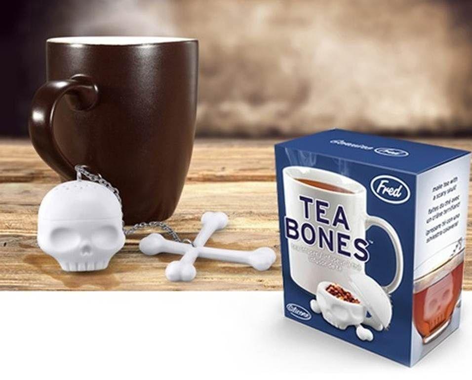 Accesorios utensilios de cocina para servir el t infusor con forma de calavera con huesos como - Accesorios para el te ...