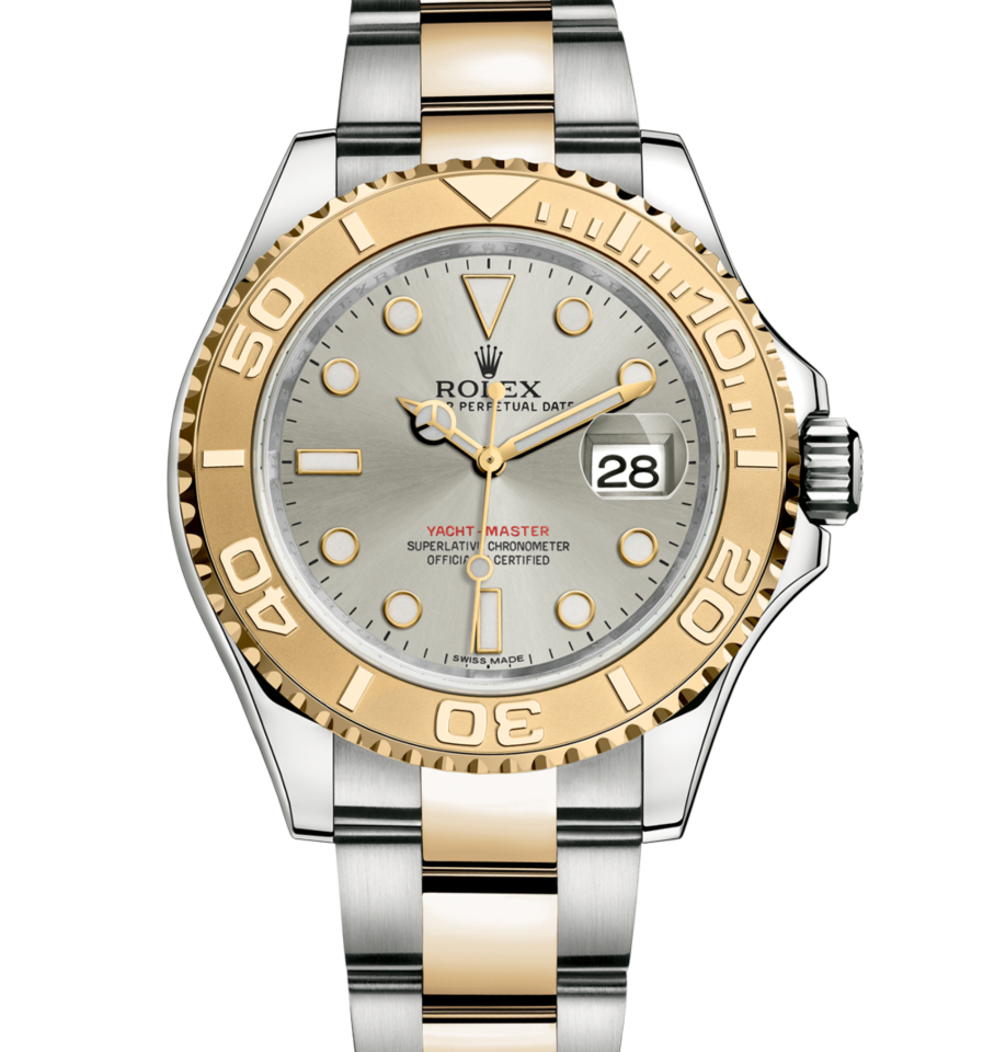 Rolex yachtmaster mm in l steel and yellow gold with a