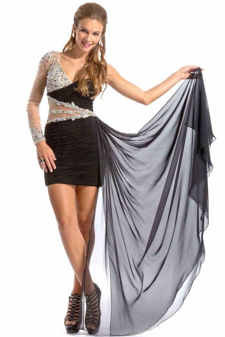 Shop sexy homecoming dresses sheath column one sleeve short