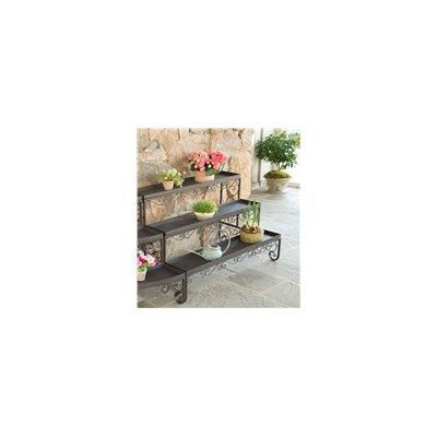 Plow & Hearth Straight Three-Level Plant Stand