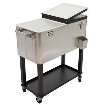 Cyber Monday Deal 12 2 13 15 149 99 After 30 Off Trinity Stainless Steel Beverage Cooler With Shelf While Supplies Last Us Only