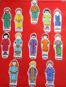 12 Tribes Of Israel Children S Church Crafts Preschool