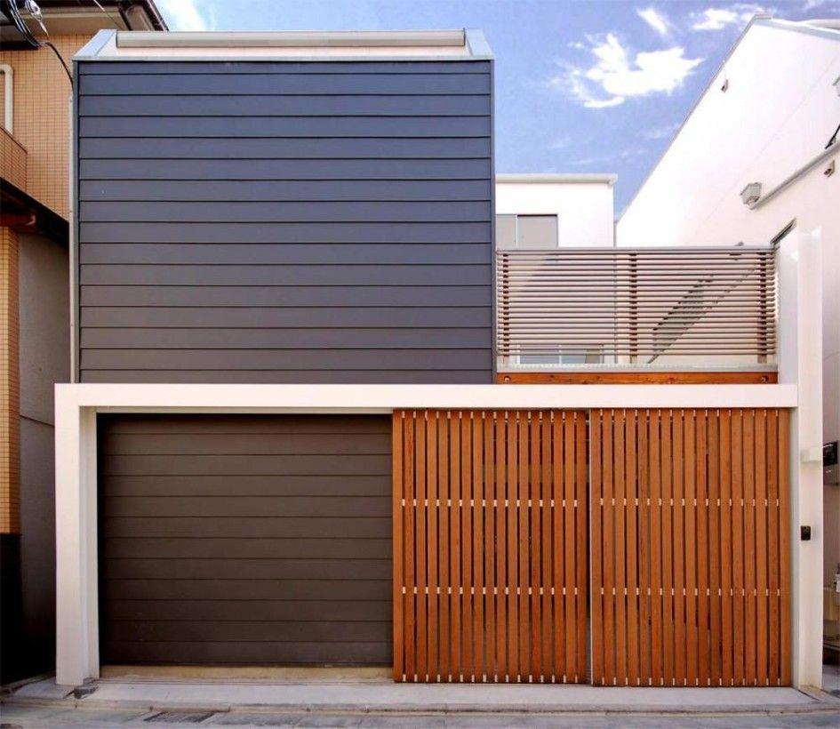 Exterior design minimalist house facade architecture for Minimalist house fence