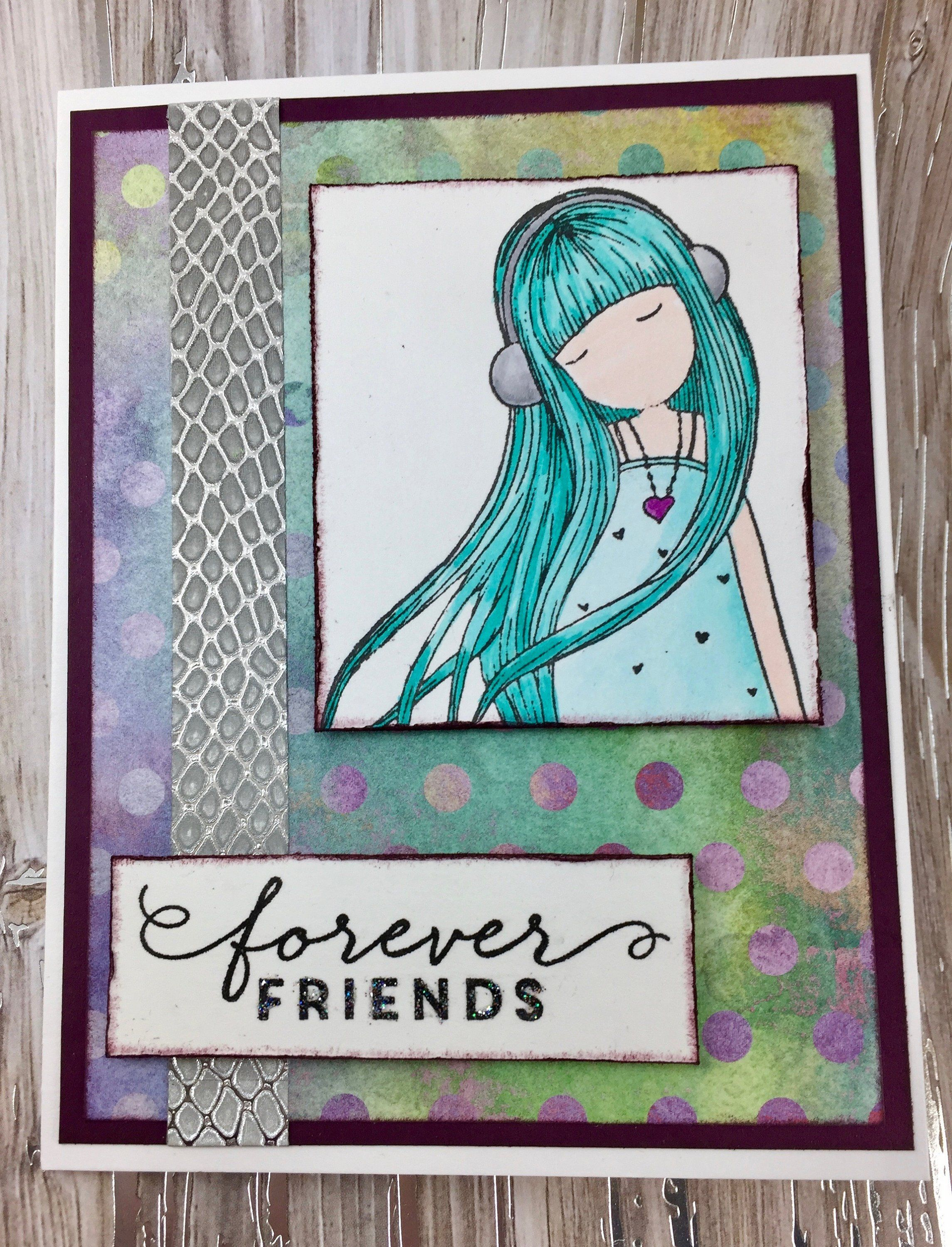 Friendship card handmade card birthday card cards pinterest