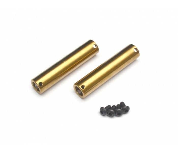 2 Boom Racing Axial SCX10 Kronik Axle Tubes Stainless Steel for SCX10