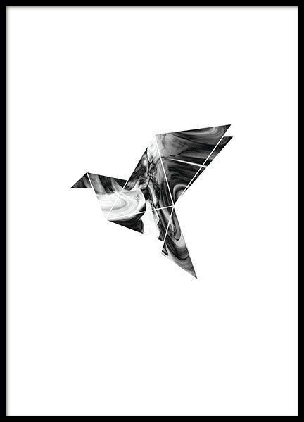 moderne poster met duif gang pinterest posters illustraties en slaapkamer. Black Bedroom Furniture Sets. Home Design Ideas