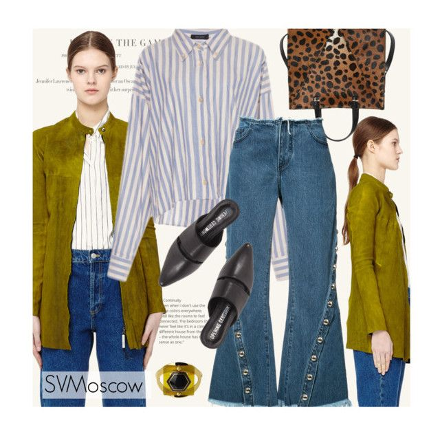 """""""SVMoscow: Jacket by Isaac Sellman"""" by fashionmonkey1 ❤ liked on Polyvore featuring Isaac Sellam, Clare V., Marques'Almeida, Opening Ceremony and Marni"""