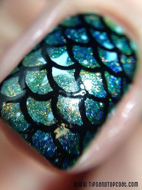 Macro Mermaid nail | Favoritos | Pinterest | Colas de sirena, Uñas ...