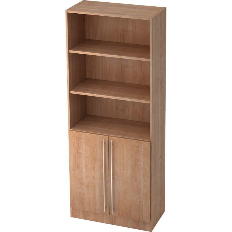 Walnut Straight plastic handle Office cabinet with doors …