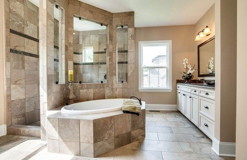 Really Like This Layout With Walk Through Shower Though The Interior Windows Might Be A L Dream Bathroom Master Baths Master Bath Layout Master Bathroom Layout