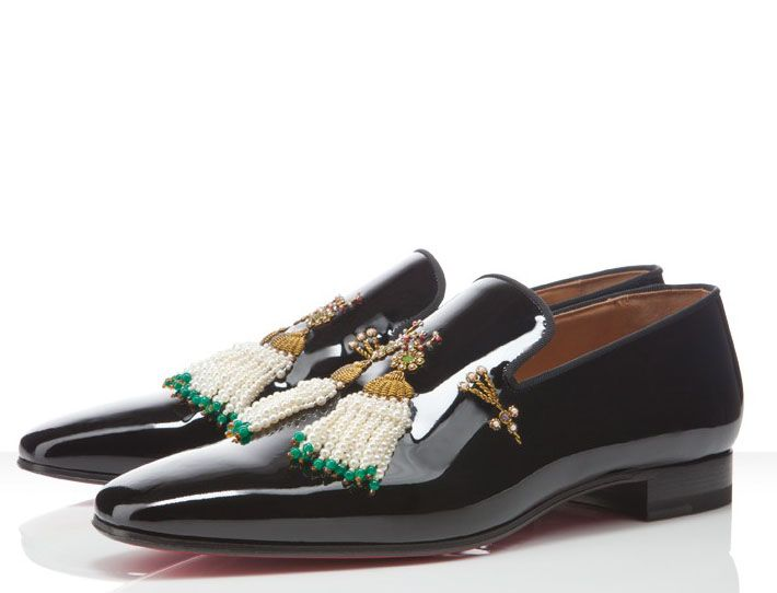 Christian Louboutin Mikaraja Flat: Subtle and easily forgotten are  descriptors not to be associated with Chrisian Louboutin footwear.