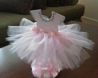 Elegant Three Tier Pink TuTu Diaper Cake / Ballerina Baby Shower / TuTu Baby Shower  / Shower Centerpiece