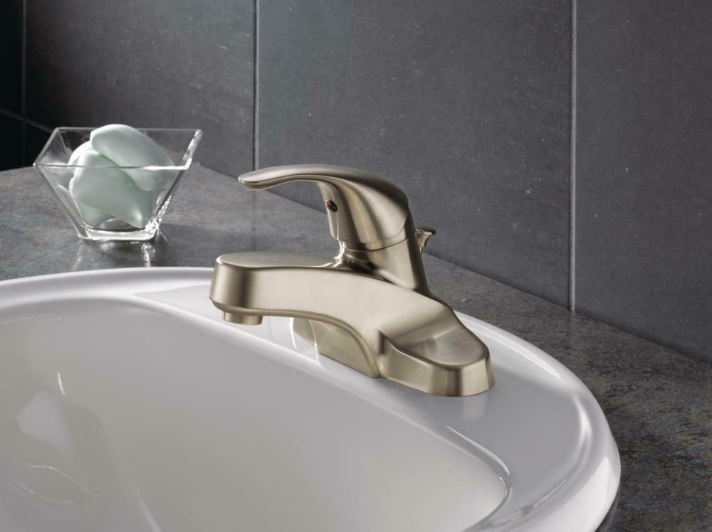 Peerless Single Handle Bathroom Faucet in Brushed Nickel P188620LF