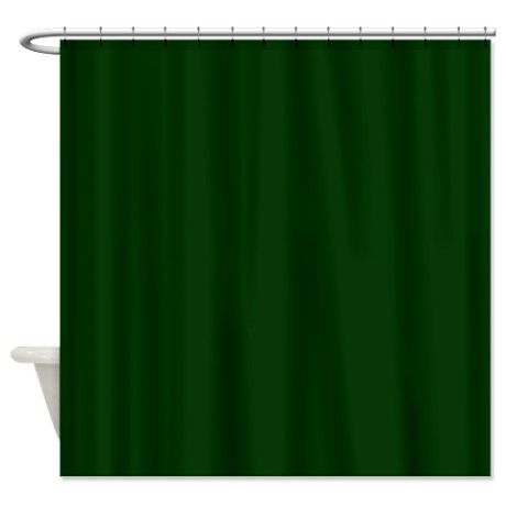 Dark Green Shower Curtain By Poptopia With Images Green Shower Curtains Designer Shower Curtains Curtains