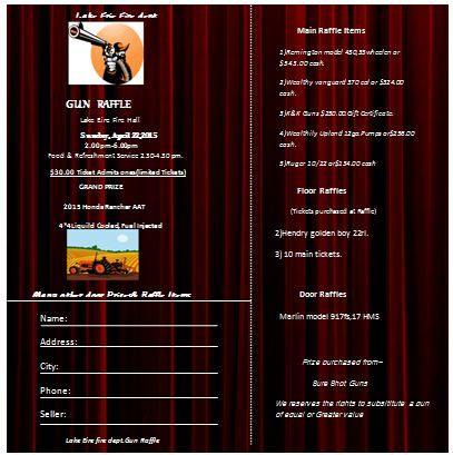 Gun Raffle Ticket Template  Raffle Ticket Templates For Word