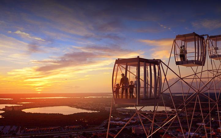 The Orlando Eye at sunset