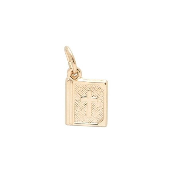 Bible Charm Charm by Rembrandt ($235) ❤ liked on Polyvore featuring jewelry, pendants, cocktail jewelry, 14 karat gold jewelry, yellow gold charms, special occasion jewelry and evening jewelry