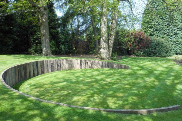 Sevenoaks Kent Landscaping Retaining Walls Sloped Garden Landscape Design