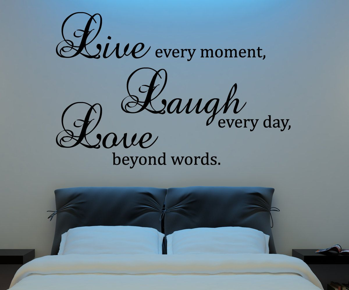Live Laugh Love Wall Decal Vinyl Sticker Quote Art Living Room Extraordinary Dining Room Wall Quotes Decorating Inspiration
