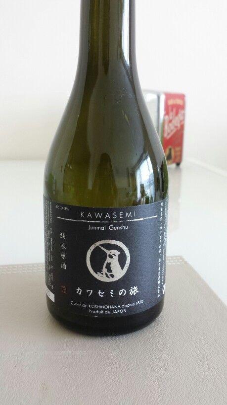 Kawasemi Junmai Genshu! Sake on the sweet side but full of favour. Love it. Found on midorinoshima.com